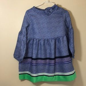 BNWT Janie & Jack dress blue green picture perfect